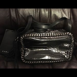 NWT Zara crossbody leather handbag